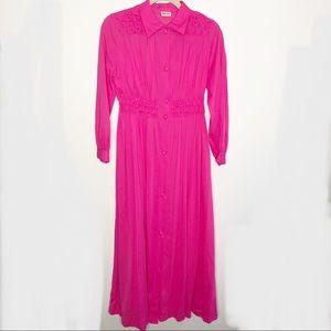 Vintage Montgomery Ward Hot Pink House Dress